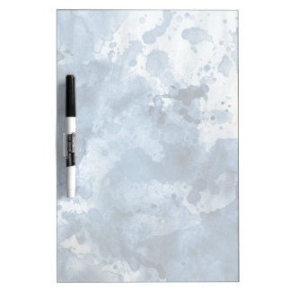 Abstract blue watercolor background dry erase board
