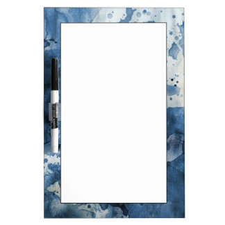 Abstract blue watercolor background dry erase whiteboards