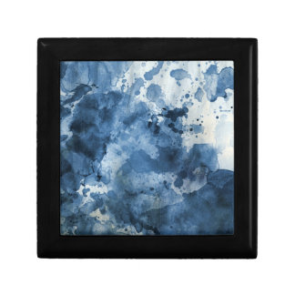 Abstract blue watercolor background gift box