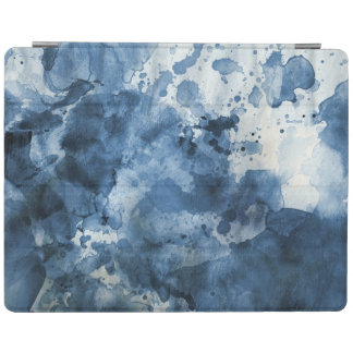 Abstract blue watercolor background iPad cover