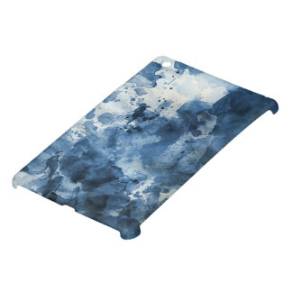 Abstract blue watercolor background iPad mini cases