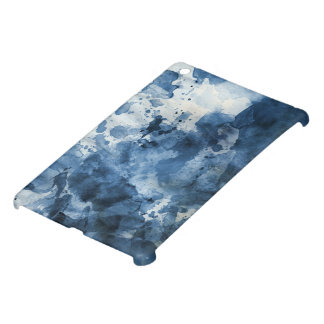 Abstract blue watercolor background iPad mini cover