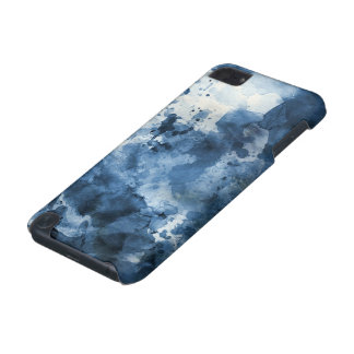 Abstract blue watercolor background iPod touch 5G covers