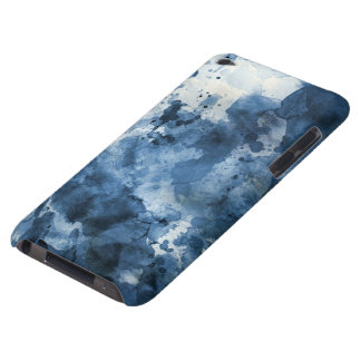Abstract blue watercolor background iPod touch cover