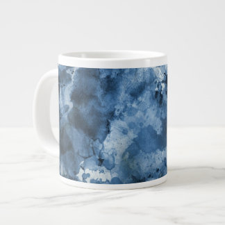 Abstract blue watercolor background large coffee mug