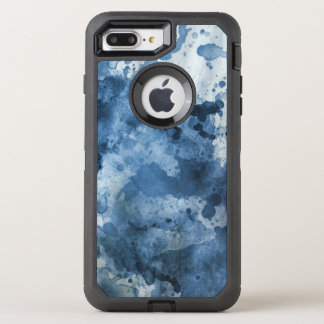 Abstract blue watercolor background OtterBox defender iPhone 8 plus/7 plus case