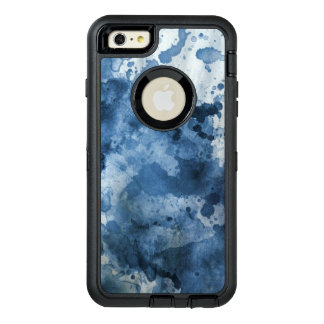 Abstract blue watercolor background OtterBox defender iPhone case
