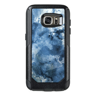 Abstract blue watercolor background OtterBox samsung galaxy s7 case