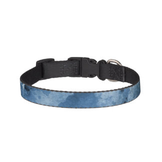 Abstract blue watercolor background pet collar