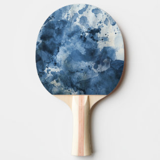 Abstract blue watercolor background ping pong paddle