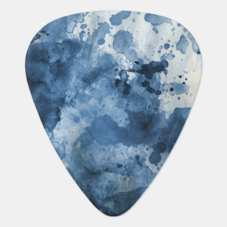 Abstract blue watercolor background plectrum