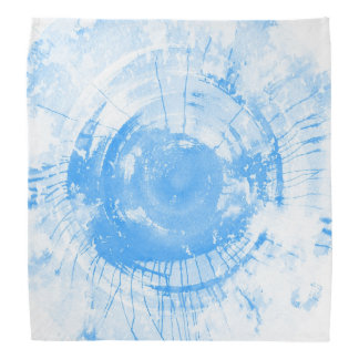 Abstract blue watercolor background, texture. 2 bandana