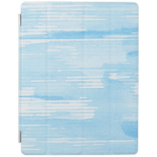 Abstract blue watercolor background, texture. 2 iPad cover