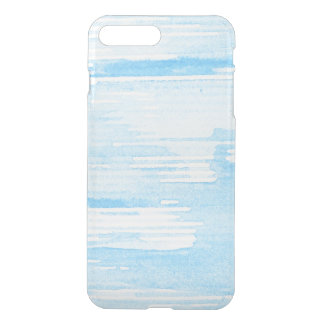 Abstract blue watercolor background, texture. 2 iPhone 8 plus/7 plus case