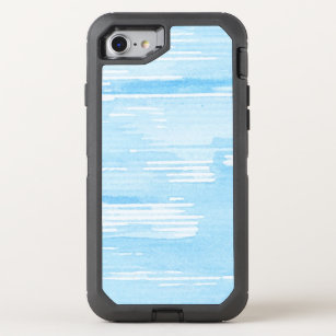 Abstract blue watercolor background, texture. 2 OtterBox defender iPhone 8/7 case