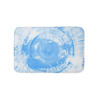 Abstract blue watercolor background, texture. bath mat