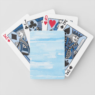 Abstract blue watercolor background, texture. bicycle playing cards