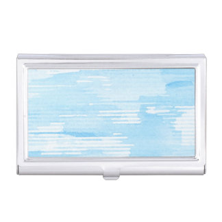 Abstract blue watercolor background, texture. business card holder