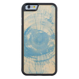 Abstract blue watercolor background, texture. carved maple iPhone 6 bumper case