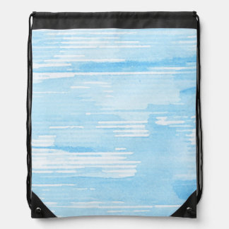 Abstract blue watercolor background, texture. drawstring bag