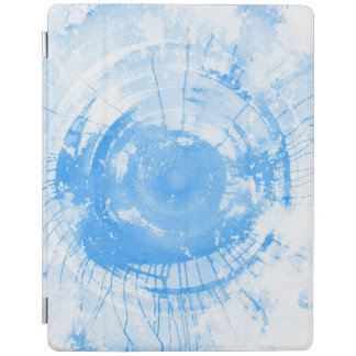 Abstract blue watercolor background, texture. iPad cover