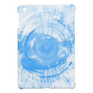 Abstract blue watercolor background, texture. iPad mini case