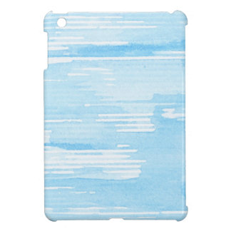 Abstract blue watercolor background, texture. iPad mini cover