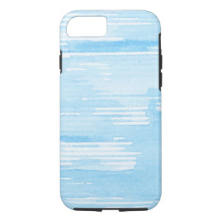 Abstract blue watercolor background, texture. iPhone 8/7 case