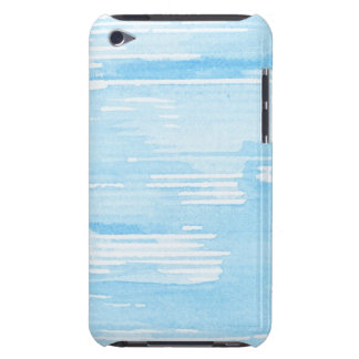 Abstract blue watercolor background, texture. iPod Case-Mate cases