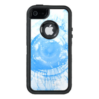 Abstract blue watercolor background, texture. OtterBox iPhone 5/5s/SE case