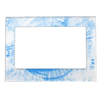 Abstract blue watercolor background, texture. picture frame magnet