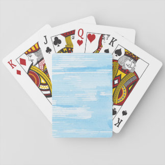 Abstract blue watercolor background, texture. playing cards