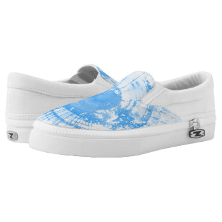 Abstract blue watercolor background, texture. Slip-On shoes
