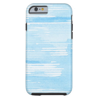 Abstract blue watercolor background, texture. tough iPhone 6 case