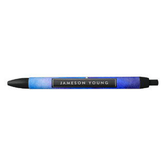 Abstract Blue Watercolor Personalized Pen