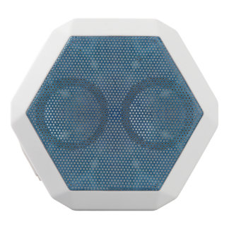 Abstract blue wood white boombot rex bluetooth speaker