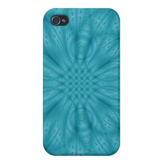 Abstract blue wood pattern cover for iPhone 4