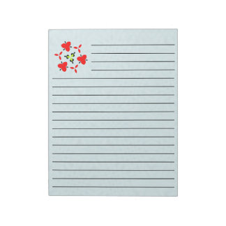 Abstract blue Wood Pattern Notepad