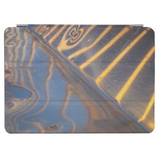 abstract blue, yellow and silver metal reflection iPad air cover