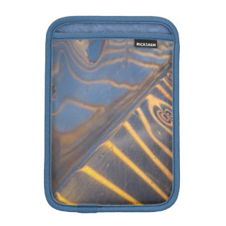 abstract blue, yellow and silver metal reflection iPad mini sleeve
