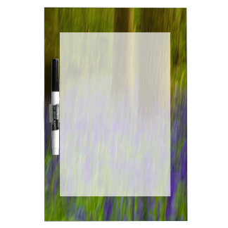 Abstract Bluebell Woods Dry Erase Board