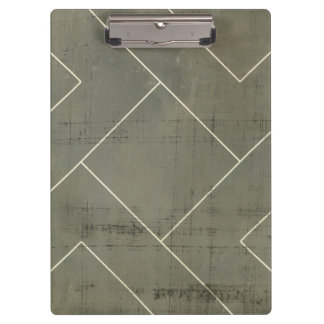 Abstract Blueprint with Geometric Shapes Clipboard