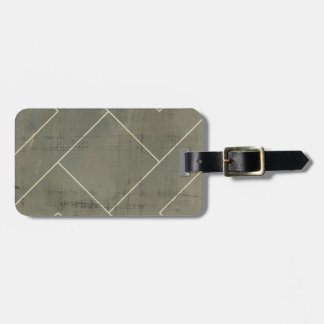 Abstract Blueprint with Geometric Shapes Luggage Tag