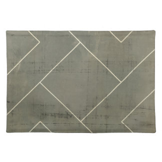 Abstract Blueprint with Geometric Shapes Placemat