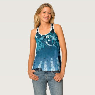 Abstract Blues Tank Top