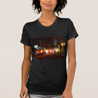 Abstract blur image of a night scene with bright l tshirts