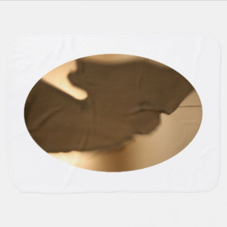 Abstract blur of brown tints baby blanket