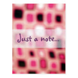 Abstract Blurry Pink Square Cubes Art