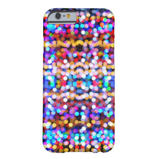 Abstract Bokeh Bright Coloured Lights Pattern Barely There iPhone 6 Case