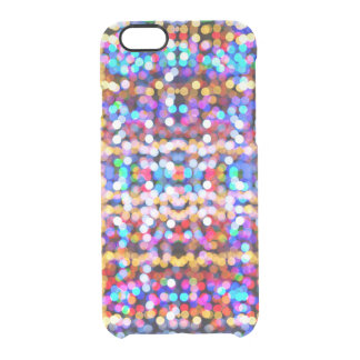 Abstract Bokeh Bright Coloured Lights Pattern Clear iPhone 6/6S Case